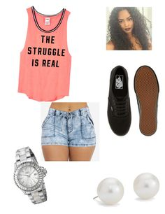 """Untitled #32"" by ghettogirl19 ❤ liked on Polyvore featuring Victoria's Secret PINK, Blue Nile, Vans and Invicta"