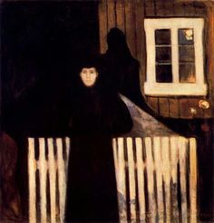"Eduard Munch, ""Moonlight,"" 1893."
