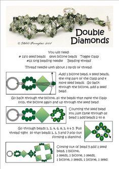 Bead Mavens: Tutorial Double Diamonds Bracelet