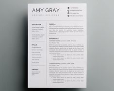 Professional resume template / CV Fonts Graphics Themes Te ---CLICK IMAGE FOR MORE--- resume how to write a resume resume tips resume examples for student Cover Letter Template, Resume Template Examples, Resume Template Free, Resume Examples, Letter Templates, Design Templates, Brochure Template, Free Resume, Resume Tips