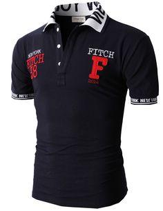 Doublju Fashion Pique Cotton Polo Shirts with Short Sleeve (KMTTS0114)   doublju Busos Hombre 68b53b61c229e