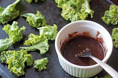 Gluten Free, Vegan Chocolate Kale Chips