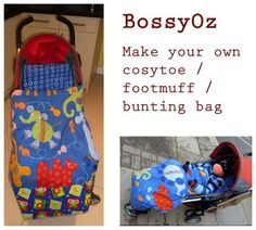 BossyOz: Tutorial - cosytoe, footmuff, bunting bag, pushchair bag