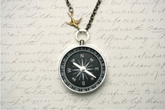 Never  Lost Compass Necklace Working Compass Necklace by madebymoe, $25.00