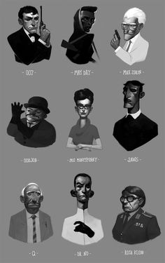 007 characters by henrikutvonen on DeviantArt
