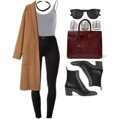 A fashion look from January 2017 featuring J Brand leggings, Christian Louboutin ankle booties and Yves Saint Laurent tote bags. Browse and shop related looks. Fall Winter Outfits, Autumn Winter Fashion, Summer Outfits, Cute Casual Outfits, Stylish Outfits, Casual College Outfits, Look Fashion, Fashion Outfits, French Fashion