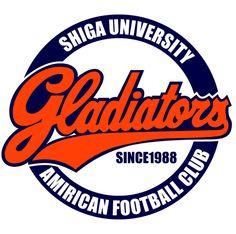 滋賀大学 GLADIATORS University, Football, Logos, School, Soccer, Futbol, American Football, Logo, A Logo
