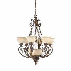 Check out the Triarch International 29274 Kordoba 9 Light Chandelier in Roman Bronze priced at $844.20 at Homeclick.com.