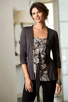Women's Tops - Capture Two In One Cardigan