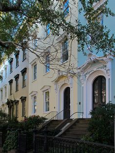 I want to live in one of these...    Bull Street, Charleston | CDP  #drdtownhouse