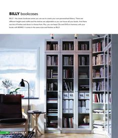 Billy bookcases, we have a library of these in Black <3