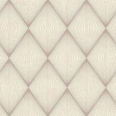 2662-001901 Taupe Diamond Geometric - Enlightenment - Precision Wallpaper by Beacon House
