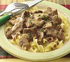 WW Beef Stroganoff-7 PointsPlus+, Makes 4 servings, 1-1/4 cups per serving.