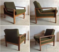 A stunning and rare Irish designed 1960's Crannac armchair. The design incorporates a solid wood frame, with a curved bentwood side ba...