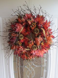Fall Wreath - Autumn Wreath - Front Door Wreath - Fall Decor. $54.95, via Etsy.