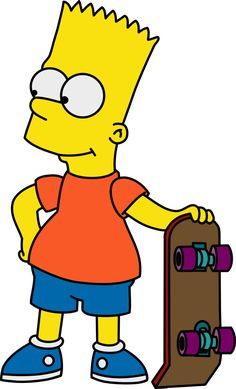 It looks like Bart has his skateboard ready. I wonder where he'll go next?