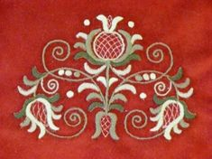 This Pin was discovered by Edi Jacobean Embroidery, Tambour Embroidery, Hungarian Embroidery, Folk Embroidery, Embroidery Stitches, Embroidery Patterns, Stitch Patterns, Vintage Jewelry Crafts, Chiffon