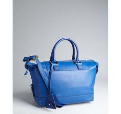Diane Von Furstenberg lapis leather 'Drew' satchel