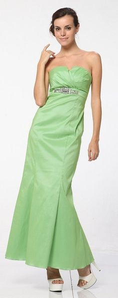 c71d386457 Mint Green Strapless Evenig Dress Rhinestone Crusted Waist Mint Gown  68.99  Mint Gown