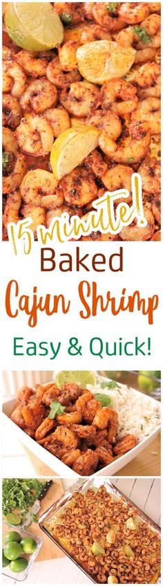 Baked Sheet Pan Cajun Shrimp Recipe - 15 minutes and so delicious! Use it in tacos, meal prep bowls, or over rice or noodles. So versatile and the flavor is so yummy you'll want to eat the entire pan by itself! - Dreaming in DIY paleo dinner shrimp Supper Recipes, Entree Recipes, Easy Dinner Recipes, Easy Meals, Cooking Recipes, Healthy Recipes, Delicious Recipes, Quick Recipes, Supper Ideas