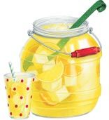 Old-Fashioned Lemonade - artwork by Gooseberry Patch.