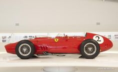 A vintage Ferrari car is on display during the The Great Challenges Ferrari-Maserati exhibition, dedicated to the competition between the two great names in Italian car racing, at the Museo Casa Enzo Ferrari in Modena, northern Italy, Oct. 15, 2012.