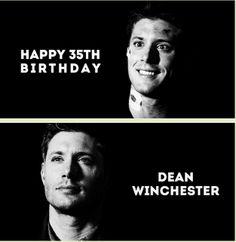 Happy 35th Birthday, Dean Winchester--January 24, 1979