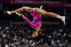 Gabrielle Douglas.London 02/08/2012 .London 2012 Olympic games  Women Gymnastic Artistic - Olimpiadi Londra 2012 Ginnastica artistica femminile concorso generale individuale.Foto Imago / Insidefoto.ITALY ONLY..
