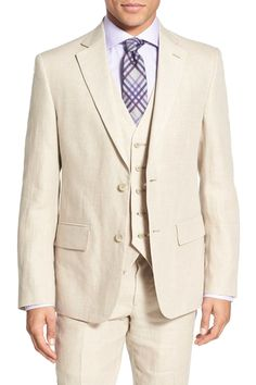 Classic Fit Linen Blazer