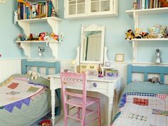 Browse through our favorite shared kids rooms and gather ideas to create a warm, homey space for your kids! From traditional bunks to pos...