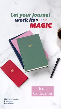 Your journal can be your most important treasure: the place where you can be 100% you, no judgement, no pressure, no strings. Choose it wisely and let it work its magic on your everyday life. Shown here, Letts of London Icon Collection. Go to lettsoflondon.com and find the item that inspires you and better suits your needs. #stationery #diary #planner #luxurystationery #notebook #planneraddict #plannercommunity #finebinding #journal # #plannergoodies Mid Century Modern Colors, London Icons, Ruled Paper, Modern Color Palette, Diary Planner, Pocket Notebook, Icon Collection, Pen And Paper, Fountain Pen