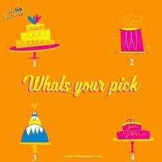 What kind of wedding cake do you prefer? Comment now! #Letsannounce #wedding #weddinginvite #weddingcake