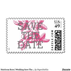 Heirloom Rose | Wedding Save The Date Postage