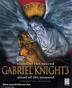 Gabriel Knight 3 - Blood of the Sacred, Blood of the Damned Coverart. Gabriel, Knight Games, Bandai Namco Entertainment, Adventure Games, Typing Games, Studio S, Video Game Art, Cover Art, Nostalgia