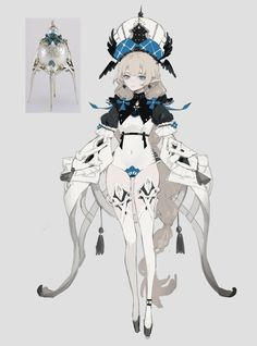 (1) Home / Twitter Female Character Concept, Fantasy Character Design, Character Design Inspiration, Character Art, Cute Characters, Fantasy Characters, Anime Characters, Magical Girl Raising Project, Emo Anime Girl