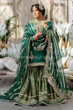 Pakistani Fashion Party Wear, Pakistani Wedding Outfits, Pakistani Dresses Casual, Indian Bridal Fashion, Pakistani Wedding Dresses, Pakistani Dress Design, Pakistani Gharara, Walima Dress, Desi Wedding Dresses