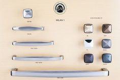 Milan 1 Series - Jeffrey Alexander Decorative Cabinet & Drawer Hardware Collection | MartellHardware.com - Decorative Hardware Supplier
