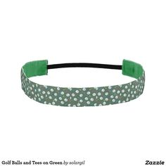 Golf Balls and Tees on Green Athletic Headbands