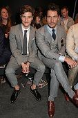 Oliver Cheshire and David Gandy attend the Topman Design show during London Collections Men SS16 at The Old Sorting Office on June 12 2015 in London...