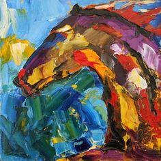 Summer Horse Painting 3, by Texas Artist  Laurie Justus Pace