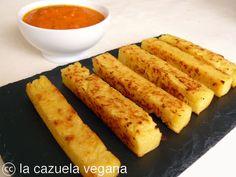Polenta frita con salsa de tomate | La Cazuela Vegana