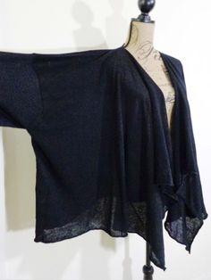 Eskandar sweater lagenlook top art to wear artsy black upscale sz OS NWT $590 #Eskandar #Cardigan
