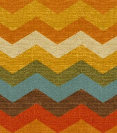 Home Decor Print Fabric- Waverly Panama Wave Adobe