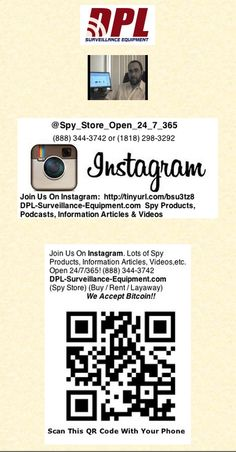 Join Us On Instagram: @Spy_Store_Open_24_7_365  (888) 344-3742  Buy/Rent/Layaway   http://instagram.com/spy_store_open_24_7_365/  Nanny IP (Internet) Cameras, GPS Trackers, Bug Detectors and Listening Devices, etc,  www.DPL-Surveillance-Equipment.com  (888) 344-3742 or (1818) 298-3292