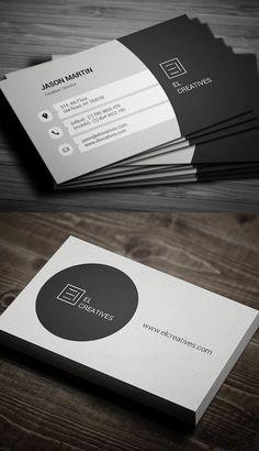 Clean Corporate Business Card Design #UniqueBusinessCards #businesscardmaker