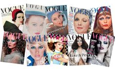 Vogue Covers Blue Shadow #vogue #vintage #cover #blue #makeup #shadows