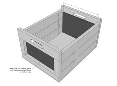 Ana White   Build a Chalkboard Produce Crate   Free and Easy DIY Project and Furniture Plans