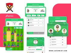 Playersss Fantasy Cricket designed by Capermint Technologies. Connect with them on Dribbble; Game Ui Design, App Design, Cricket Game App, Fantasy App, Mobile App Games, Mobile Game Development, Lovers Game, Casino Games, Create Yourself