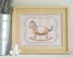 Wooden rocking horse 11x14 or 16x20 print.