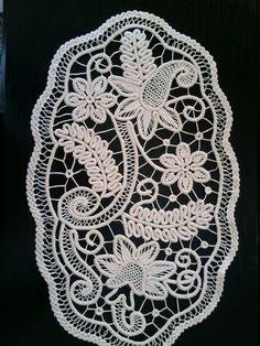 Centrino punto pizzo rumeno stile Crochet Doily di ValeriasShop